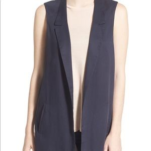 Women's ASTR side slit long vest size medium